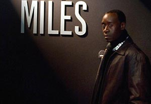 US actor Don Cheadle poses as he visits,